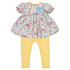 Monsoon - Multicoloured Baby Ellie print set