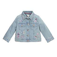 Monsoon - Baby Girls' blue betsy denim jacket
