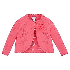 Monsoon - Pink Baby Isla pointelle cardigan