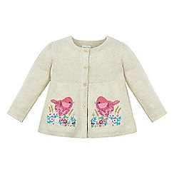 Monsoon - Brown Baby ciara bird cardigan