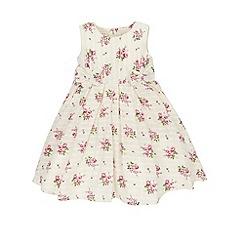 Monsoon - Baby girls' white rosalia woven dress