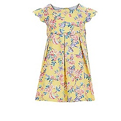 Monsoon - Baby girls' yellow samiya print dress