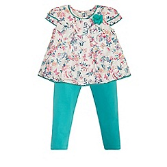 Monsoon - Baby girls' multicoloured samiya woven top & leggings set