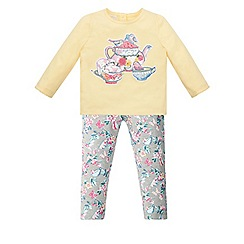 Monsoon - Baby girls' yellow billie bunny jersey set