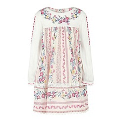 Monsoon - Baby girls' white cornelia floral dress