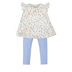 Monsoon - Baby girls' white emmeline top & leggings set