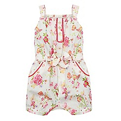 Monsoon - Baby girls' white cady playsuit