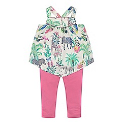Monsoon - Baby girls' multicoloured tanzania top & leggings set