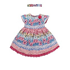 Monsoon - Baby girls' multicoloured georgia mini dress with headband