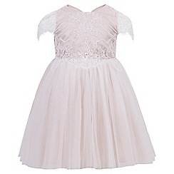 Monsoon - Baby girls' pink 'Temperance' dress