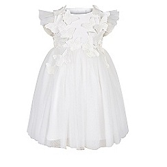 Monsoon - Baby girls' white flourish dress