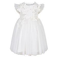 Monsoon - Baby girls' white flourish dress