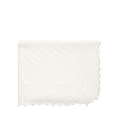 Monsoon - White Baby keepsake blanket