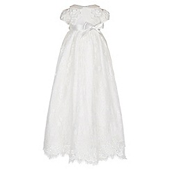Monsoon - White Baby provenza silk christening gown