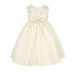 Monsoon - Baby girls' yellow cherry blossom dress
