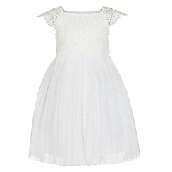 Monsoon - Baby girls' white estella dress