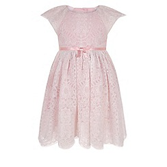 Monsoon - Baby girls' pink catarina lace dress
