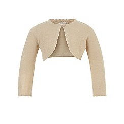 Monsoon - Baby girls' gold niamh cardigan