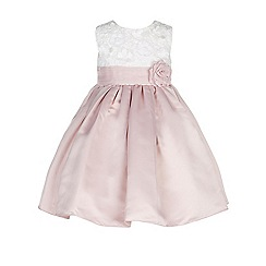 Monsoon - Baby girls' pink Enola Flowers Dress