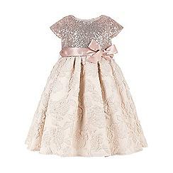 Monsoon - Baby girls'  gold kari sequin dress