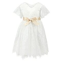Monsoon - Baby girls' white felicia flutter dress