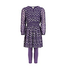 Monsoon - Purple Carrie chevron set