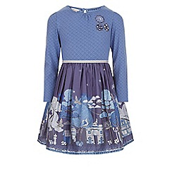 Monsoon - Blue Amika 2 in 1 dress