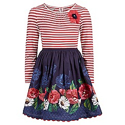 Monsoon - Multicoloured  'Peyton' poppy 2 in 1 dress