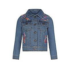 Monsoon - Girls' blue binky bird denim jacket