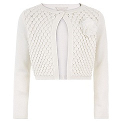 Monsoon - White 'Petunia' petal cardigan