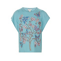 Monsoon - Girls' blue Francesca flower tee