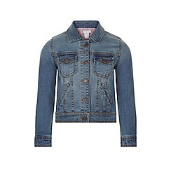 Monsoon - Girls' blue betty denim jacket