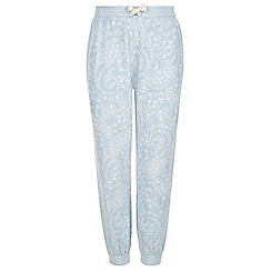 Monsoon - Girls' blue paige printed jogger trousers