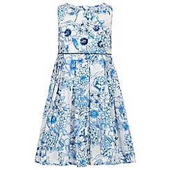 Monsoon - Girls' blue valerie floral dress
