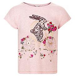 Monsoon - Girls' pink binky bunny tee