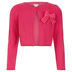 Monsoon - Pink 'Betsy' bow cardigan