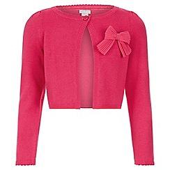 Monsoon - Pink 'Betsy' bow cardigan