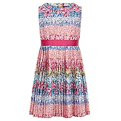 Monsoon - Girls' multicoloured georgia pleated floral dress