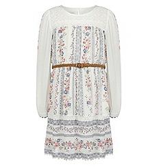 Monsoon - Girls' white prairie floral dress