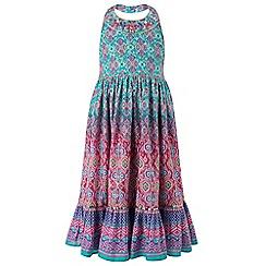 Monsoon - Girls' multicoloured  Maida print halterneck dress