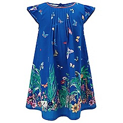 Monsoon - Girls' Blue Tanzania border dress