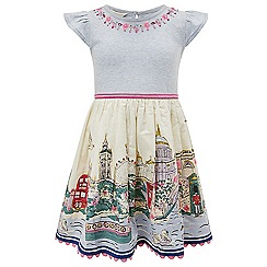 Monsoon - Girls' multicoloured  Kensington 2 in 1 dress