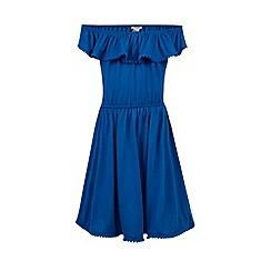 Monsoon - Girls' blue Maui off shoulder dress