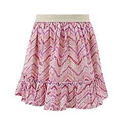 Monsoon - Girls' Multicoloured Charlie chevron skirt