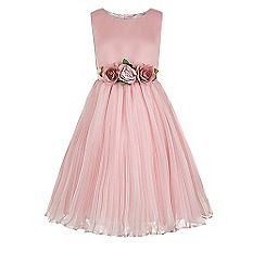 Monsoon - Girls' pink Marilyn flower dress