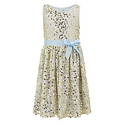 Monsoon - Girls' blue Aragon sequin dress