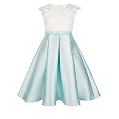 Monsoon - Girls' blue Illuria lace dress