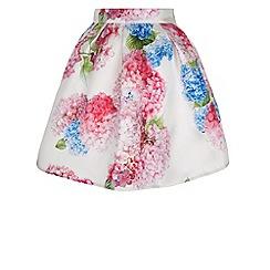 Monsoon - Girls' multicoloured  heidi hydrangea flower skirt