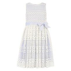 Monsoon - Girls' blue malaya lace dress