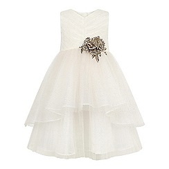 Monsoon - Girls' white Beau rose dress